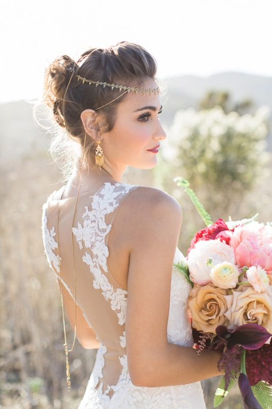 Picture Of astonishing glam meets boho wedding in jewel tones  7