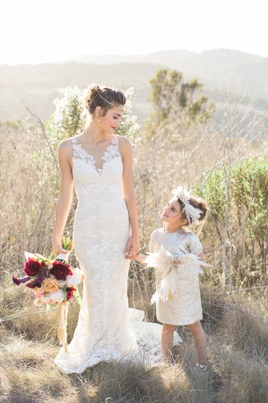 Picture Of astonishing glam meets boho wedding in jewel tones  8