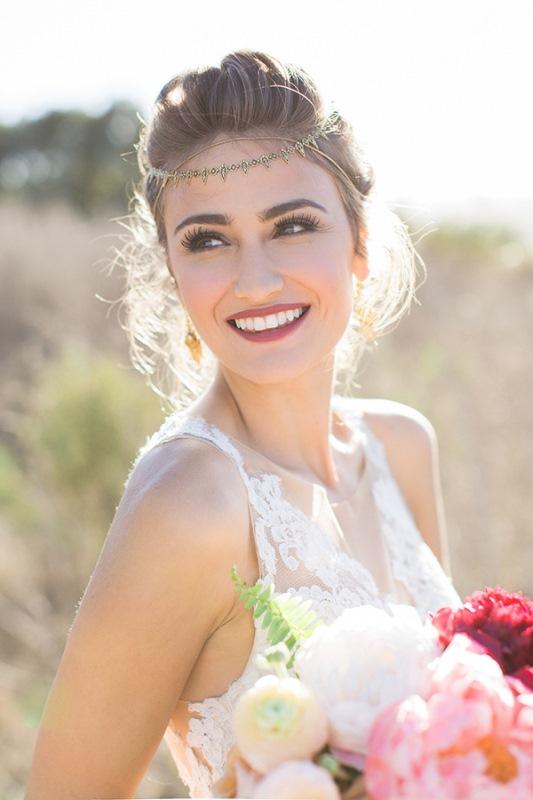 Picture Of astonishing glam meets boho wedding in jewel tones  9