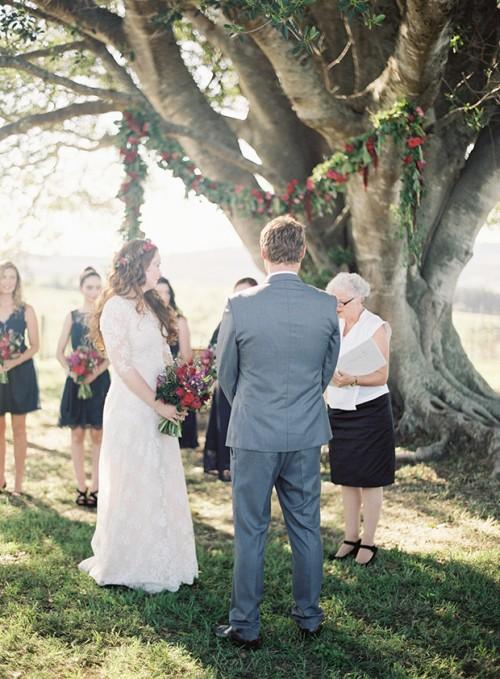 Australian Boho Wedidng Under A Big Fig Tree