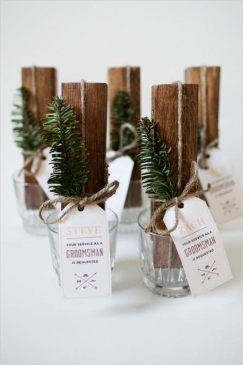 Awesome And Rustic-Inspired DIY Cigar Boxes Gifts For Groomsmen