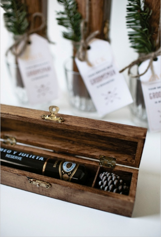 Awesome And Rustic Inspired Diy Cigar Boxes Gifts For Groomsmen