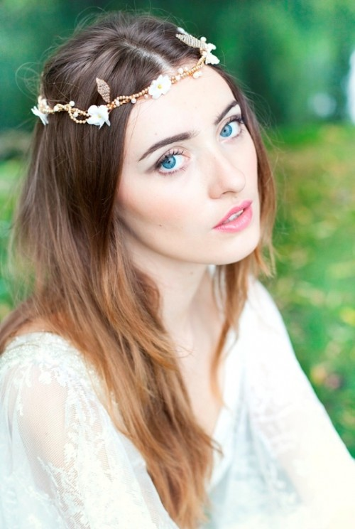 Picture Of Awesome Boho Chic Bridal Headpieces