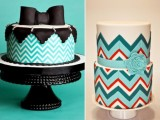 Awesome Chevron Cakes In Various Colors