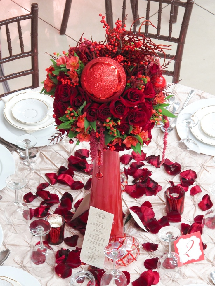 Picture of awesome christmas wedding centerpieces junglespirit
