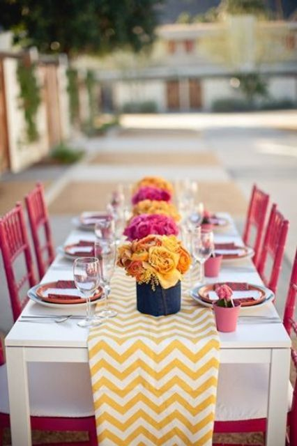 Awesome Colorful Wedding Table Settings