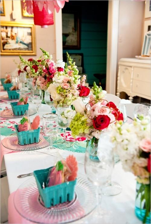 45 Awesome Colorful Wedding Table Settings Weddingomania