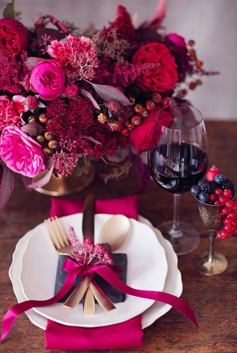 45 Awesome Colorful Wedding Table Settings