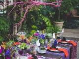 a rustic fall wedding tablescape