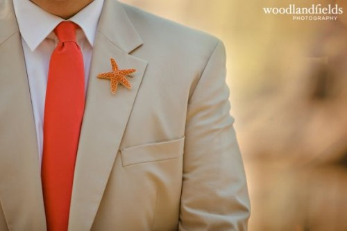 sugar starfish boutonniere (via diy)