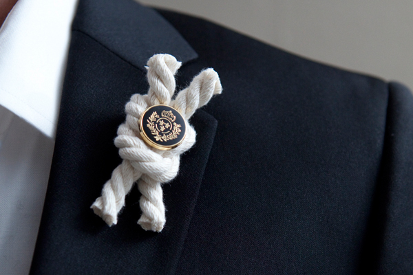 nautical rope boutonnieres