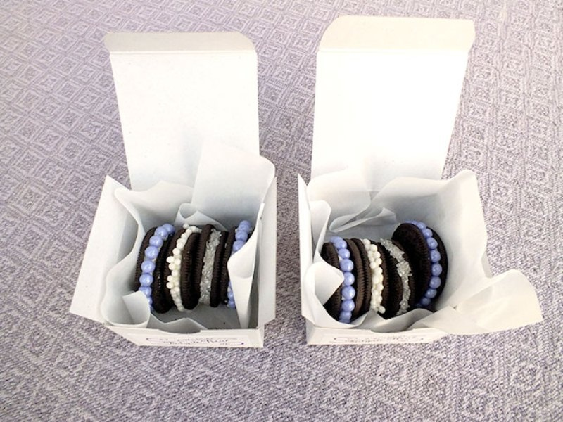 Picture Of awesome diy decorated oreo cookie favors for wedding guests  2