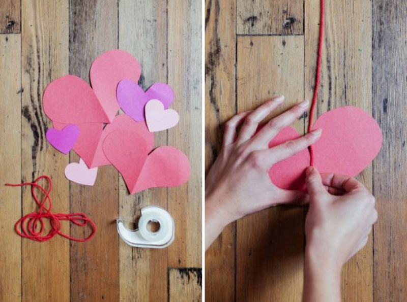 Awesome Diy Heart Garland For A Valentines Day Wedding