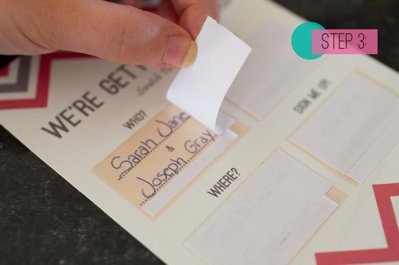 Awesome DIY Scratch Card Wedding Invitations Weddingomania – Diy Wedding Invitation Card