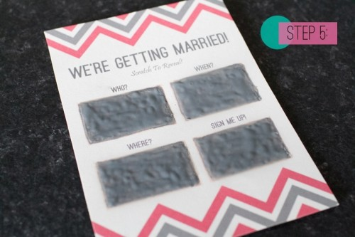 Awesome Diy Scratch Card Wedding Invitations