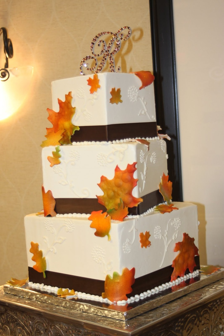 wedding cake fall designs picture of awesome fall wedding cakes 22592