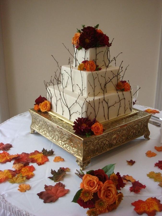 64 awesome fall wedding cakes weddingomania awesome fall wedding cakes junglespirit Choice Image