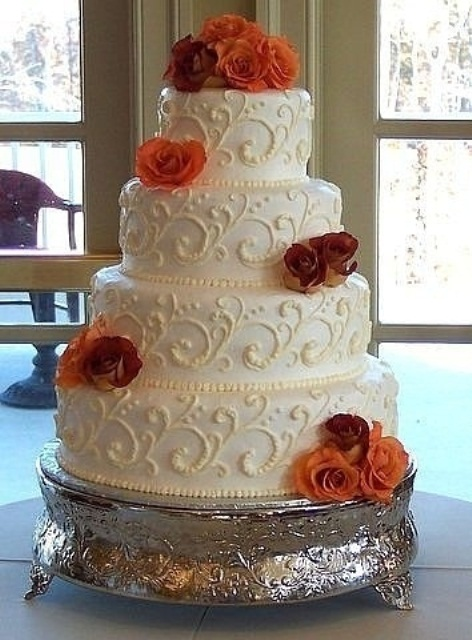 Yellow White Wedding Cakes