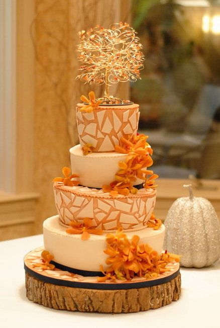 64 Awesome Fall Wedding Cakes