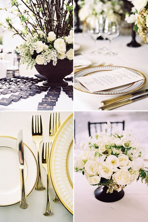 add gold to your black and white color scheme to make it bold and chic