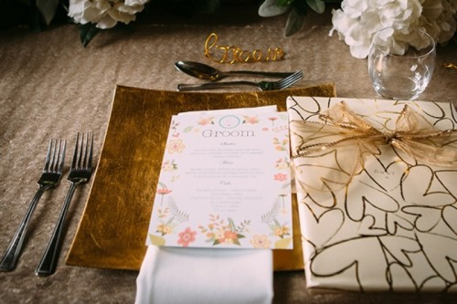 Awesome Mint Green, Coral And Sparkly Gold Wedding Inspiration