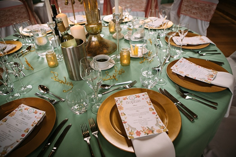 Picture Of Awesome Mint Green C And Sparkly Gold Wedding Inspiration 34
