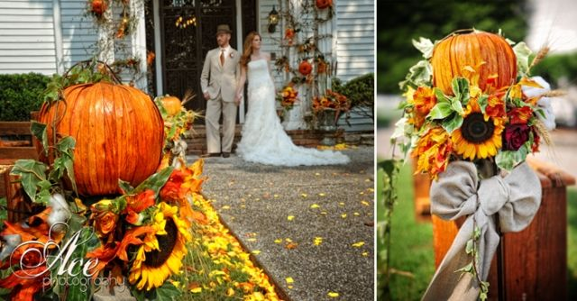 Outdoor Wedding Decorations For Fall : Picture Of Awesome Outdoor Fall  Wedding Decor Ideas