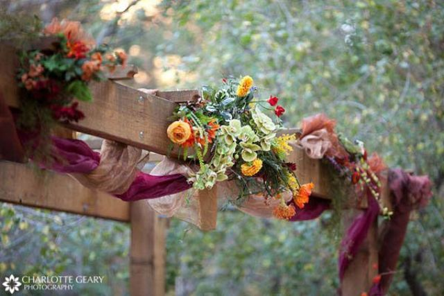 Simple Fall Wedding Centerpieces: Picture Of Simple Rustic Fall Wedding Arch