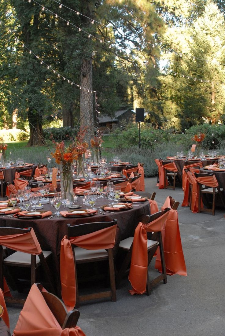 Picture of awesome outdoor fall wedding decor ideas for Outdoor wedding decorating ideas