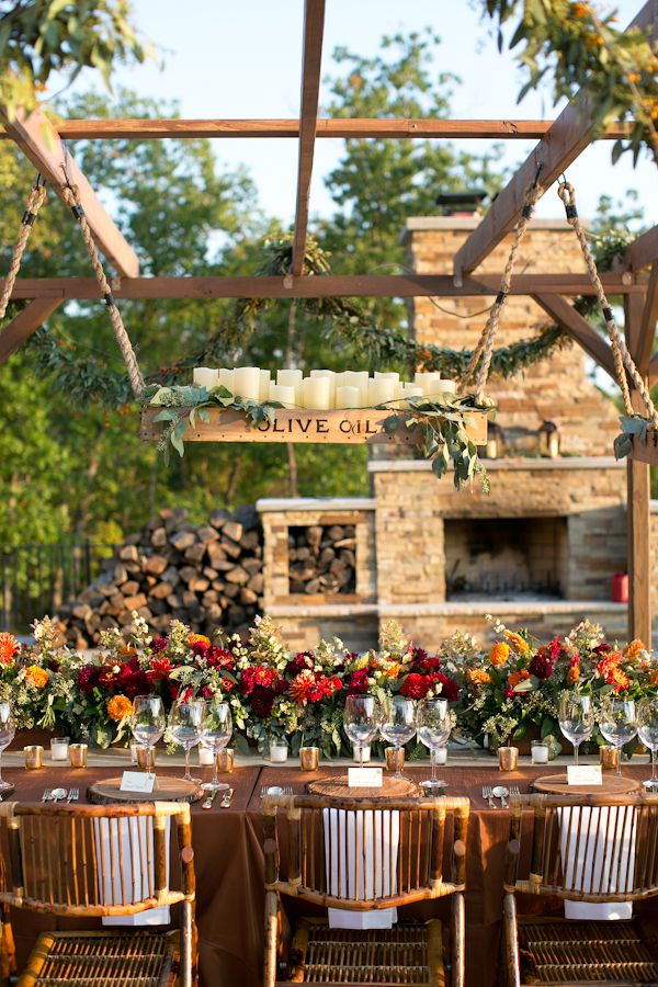 36 awesome outdoor dcor fall wedding ideas weddingomania awesome outdoor fall wedding decor ideas junglespirit Image collections