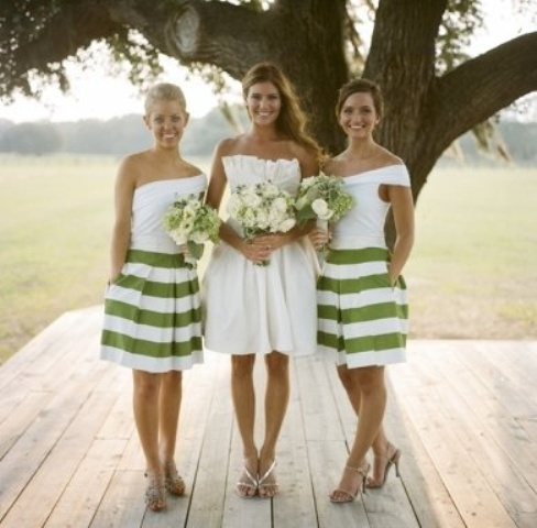 Awesome Striped Bridesmaids Dresses