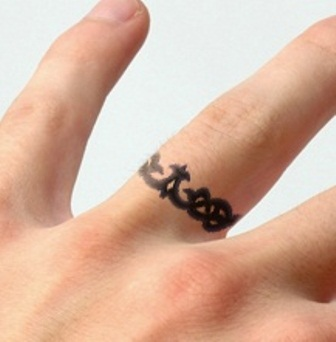 43 awesome wedding ring tattoos weddingomania for Wedding ring finger tattoos designs