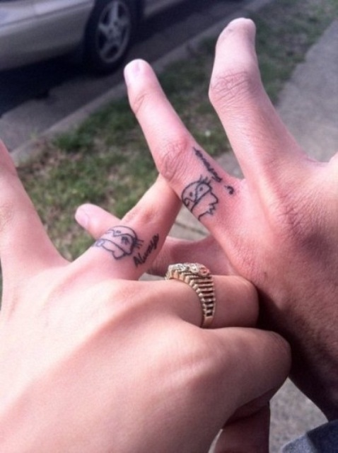 awesome wedding ring tattoos