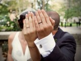 Married couple tattooed wedding rings that imitate the real ones