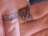 Celtic-inspired wedding band tattoos for those who are obsessed with such patterns