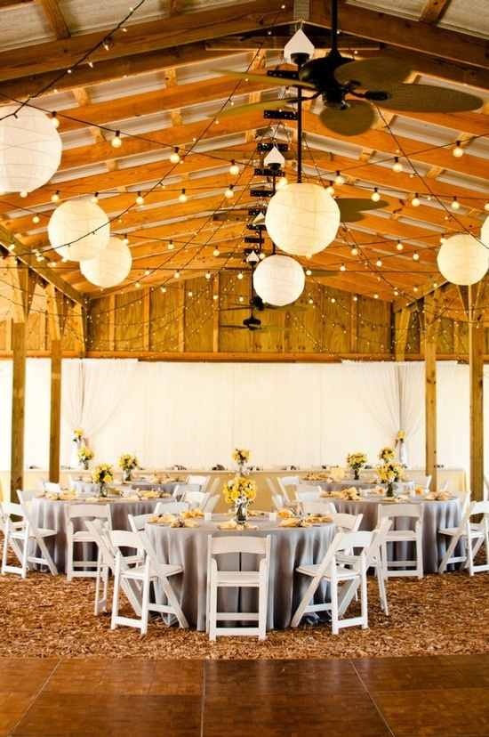Barn Wedding Lights Ideas