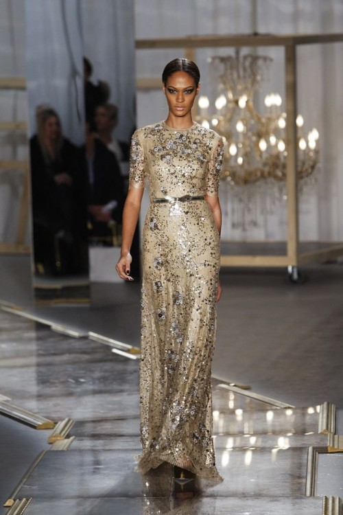 A Model On The Runway At Jason Wu's Fall 2011 Show At Center 548.