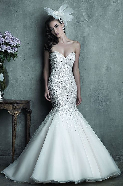 The Hottest 2014 Trend: 53 Stunning Beaded Wedding Dresses ...