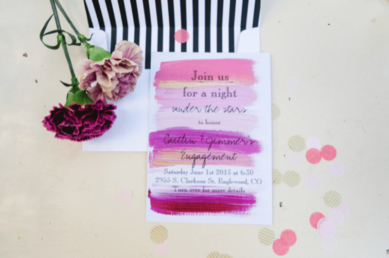 Beaurtiful And Fun Backyard Engagement Party To Get Inspired