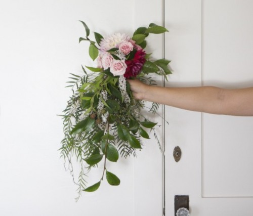 Beautiful And Easy DIY Weeping Wedding Bouquet