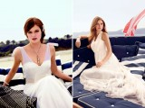 A-line illusion neckline wedding gowns for brides who love elegance and chic