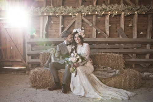 Beautiful Barn Wedding Inspirational Shoot In Pale Shades