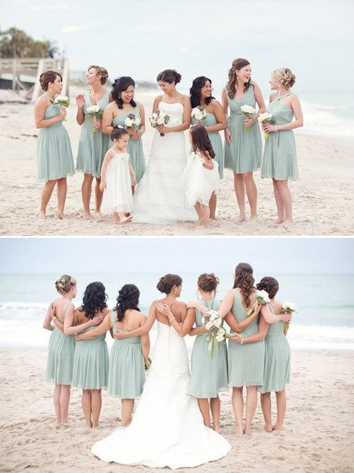 Sea Themed Bridesmaid Dresses