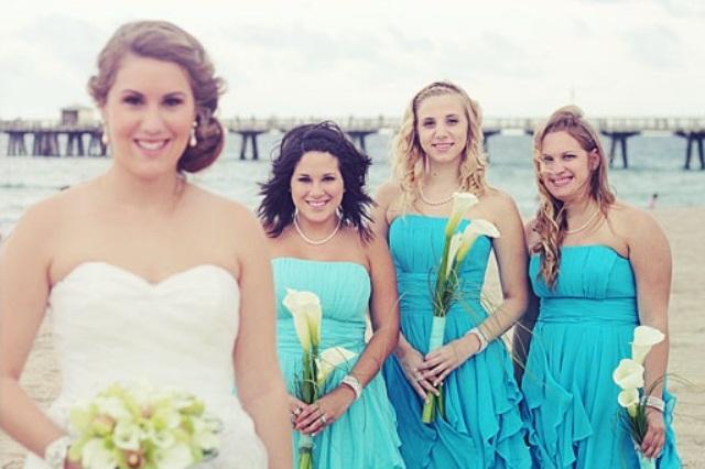 Teal Beach Wedding Bridesmaid Dresses