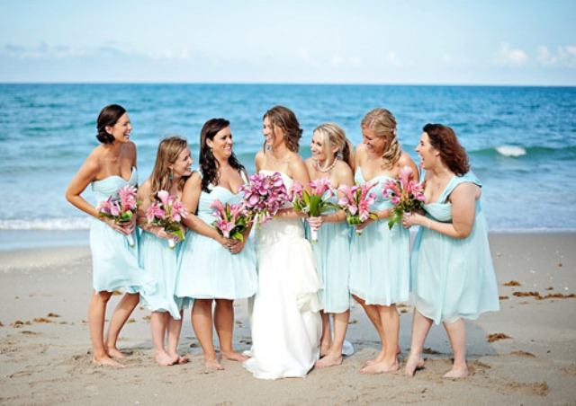 66 Beautiful Bridesmaids' Dresses For Beach Weddings - Weddingomania