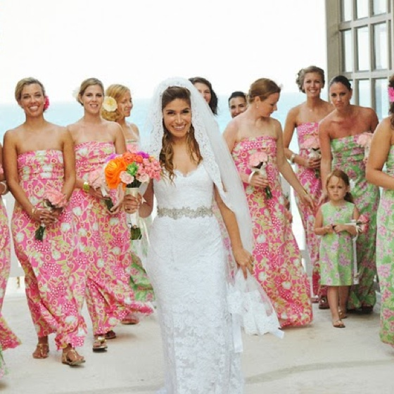 Print Bridesmaid Dresses For Beach Wedding - Overlay Wedding Dresses