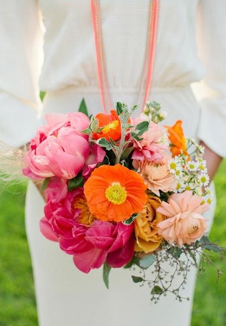 Beautiful Bright Summer Wedding Bouquets