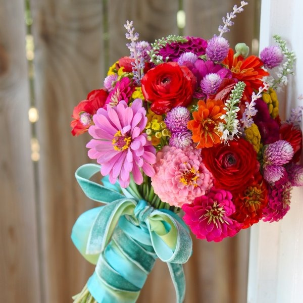 Wedding Flowers For Summer: Picture Of Beautiful Bright Summer Wedding Bouquets