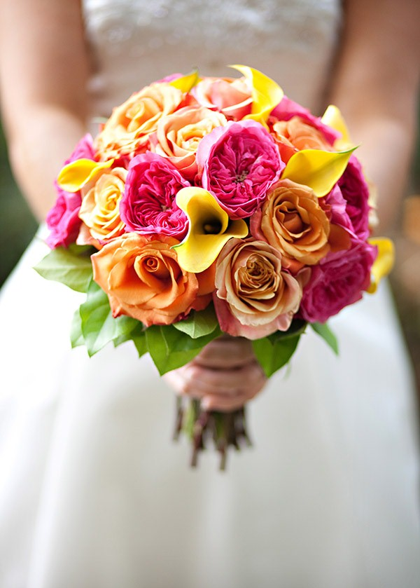 beautiful wedding flowers picture of beautiful bright summer wedding bouquets 1614