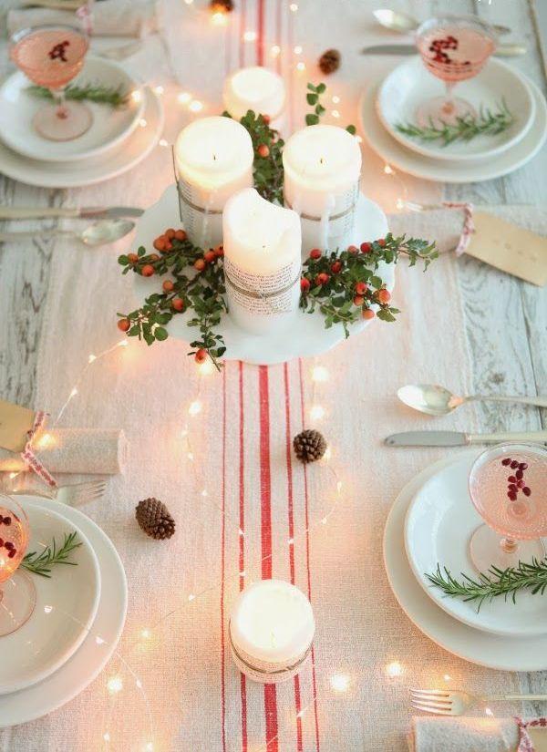 46 Beautiful Christmas Wedding Table Setting Ideas » Photo 27